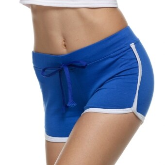 Harga Women Home Sports Yoga Comfortable Shorts Cotton Mini Shorts Blue