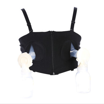Harga YingWei Maternity Bra Cotton Maternity Bra for Nursing Push Up Hands Free Breast pump Bra Maternity Breastfeeding Bra Underwear Black