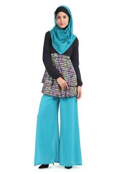Harga Aqeela Muslimah Wear Empire Layer Top Black