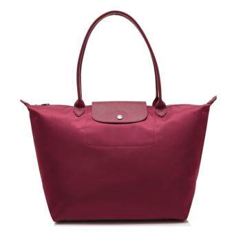 Harga Longchamp Planetes Long Handle Medium LC015A (Maroon)