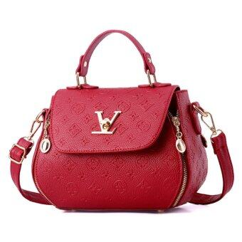 Harga New Ladies Handbag Small Package Japanese and Korean Version of The Simple V Square Trend Woman Shoulder Messenger Bag