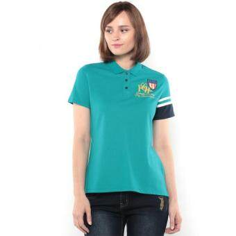 Harga Polo Haus - Polo Tee with Piping Sleeve (Turquoise)