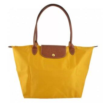 Harga Longchamp Le Pliage Long Handle Medium (Soleil)