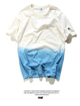 Harga Sunshine Boy Champion T-shirt with Pocket Gradient T-Shirt (Blue)