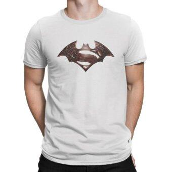 Harga Superman vs Batman Custom Design Men's White Cotton T-Shirt
