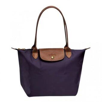 Harga Longchamp Le Pliage Long Handle Medium (Bilberry)