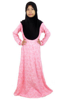 Harga Aqeela Muslimah Wear Kids Basic Dress Pink