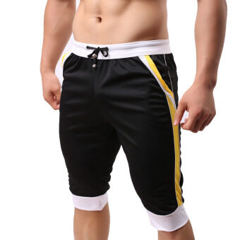 Harga Men Elastic Gym Shorts Black