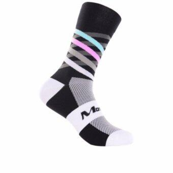 Harga Monton Cycling Socks Dimensions Verdant Unisex Comfortable Quick Dry BLack White