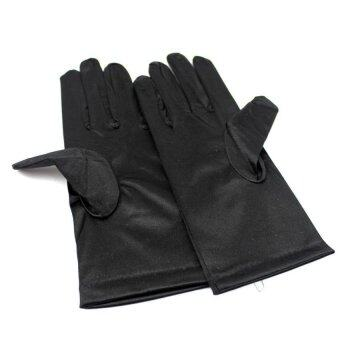 Harga Okdeals Women's Prom Fancy Dress Satin Short Gloves Black