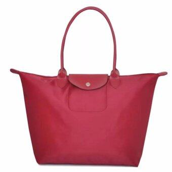 Harga (Large Size) Paris LChmp Planetes Long Handle Shoulder/Tote Handbag (Red)