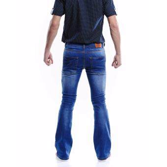 Jazz & Co Men Mid Rise Bootcut Jeans ( Indigo) - 4