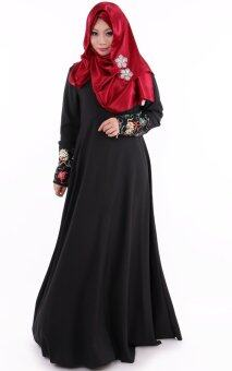 JF Fashion Lacey Jubah M362 (Black)