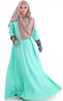 JF Fashion Lacey Jubah M362 (Light-Turquoise)