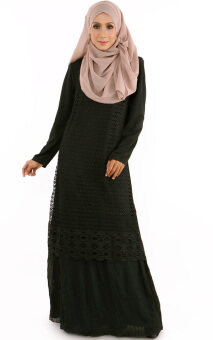Harga JF Fashion Maya Kurung Dress E2139 (Black)