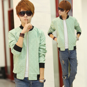 Harga Jvr casual spring dress New style Slim fit jacket (Green)
