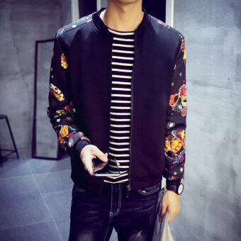 Jvr Korean-style Slim fit men's jacket New style men jacket (Where to buy-JK39-black) (Where to buy-JK39-black)