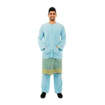 Kamdar Jumaart Mens Baju Melayu Johor-Baby Blue