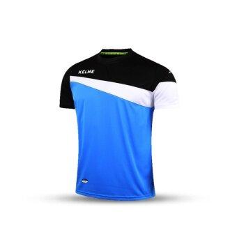 Kelme K15Z219 Men Short Sleeve Football Jersey (Blue Black White)