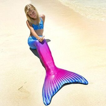 Harga Kids Girls Mermaid Tail Swimmable Monofin Tail Swimming CostumesFlippers 03#