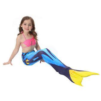 Harga Kids Girls Mermaid Tail Swimmable Monofin Tail Swimming CostumesFlippers 05#