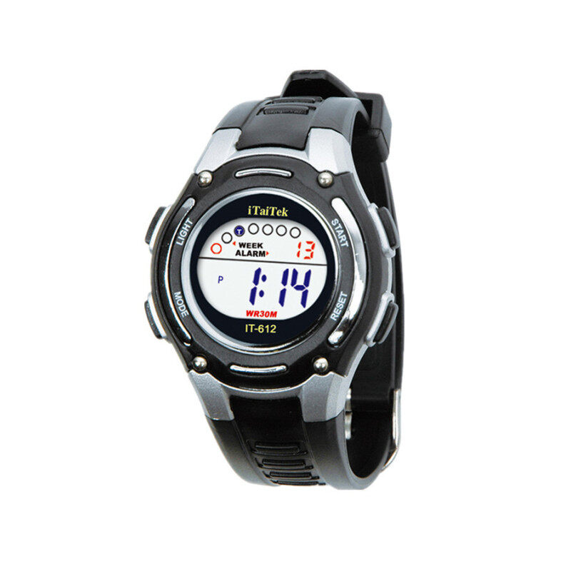 Kids Waterproof Digital Sports Wrist Watch - Black Malaysia
