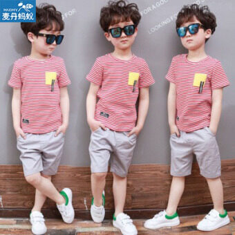 Korean-style boy's New style children's clothing (Red) (Red)