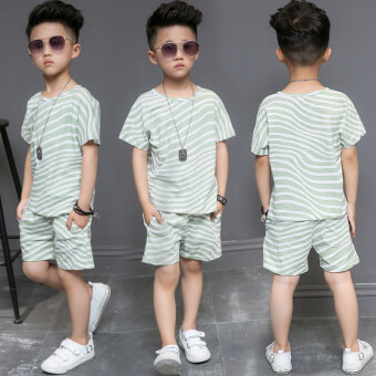 Harga Korean-style boy's New style children's summer (Green) (Green)