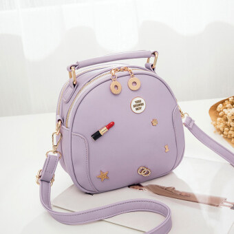 Harga Korean-style female New style cross-body handbag bag (Light purple color)