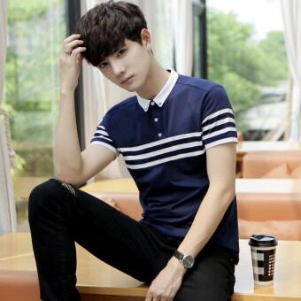 Korean-style men's short-sleeved Collar Short sleeve t-shirt polo shirt