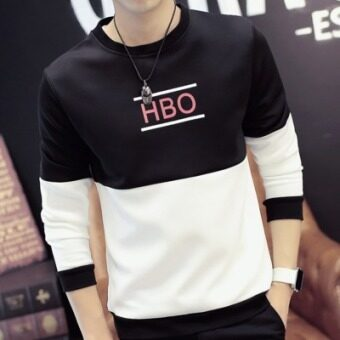 Korean-style New style Spring and Autumn baseball clothes handsome jacket autumn jacket (HBO black hoodie)