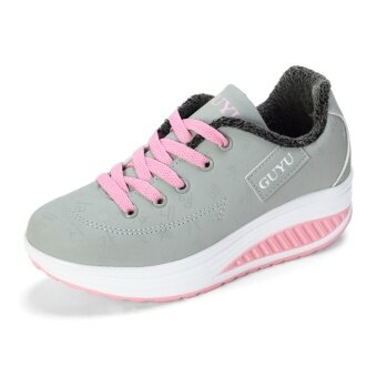 Harga Korean-style Spring and Autumn breathable heavy-bottomed casual shoes shook his shoes (Ash pink..) (Ash pink..)