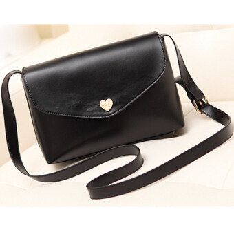 Harga Kstyle 906 Cute Korean Casual Design Sling Bag (Black)