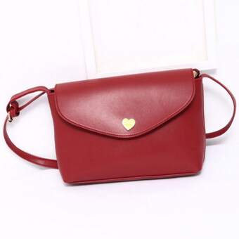 Harga Kstyle 906 Cute Korean Casual Design Sling Bag (Red)