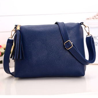 Harga Kstyle 907 Elegant Korean Casual Design Sling Bag (Blue)