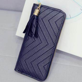 Harga Kstyle 9217 Elegant Korean Casual Design Zip Wallet Purse (Black)