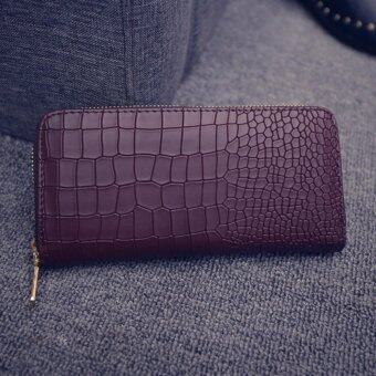 Harga Kstyle 9218 Elegant Korean Casual Design Zip Wallet Purse(Chocolate)