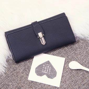 Harga Kstyle 9219 Elegant Korean Casual Design Wallet Purse (Black)