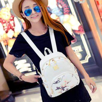 Harga Kstyle 9222 Korean Favorite Casual Design Backpack (White Flower)