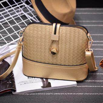 Harga Kstyle 9224 Korean Favorite Casual Design Sling Bag (Gold)