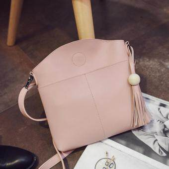 Harga Kstyle 933 Elegant Korean Casual Design CrossBody Sling Bag (Pink)
