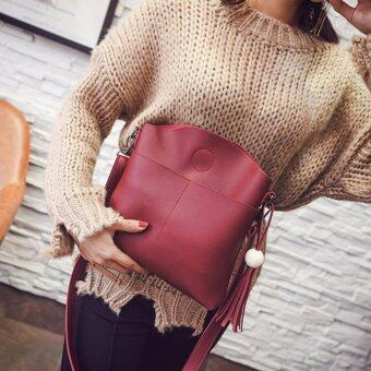 Harga Kstyle 933 Elegant Korean Casual Design CrossBody Sling Bag (Red)