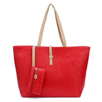 Harga Kstyle Fashion Tote Handbag and Purse (Red)