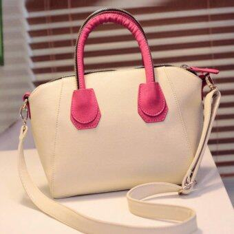 Harga Kstyle Korean Design Trendy Zipper Handbag (White)