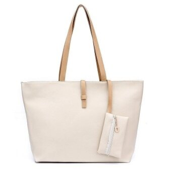 Harga Kstyle Korean Style Fashion Tote Handbag and Purse (White)