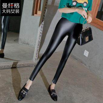 L-5XL Women Large Plus Size Leggings High Waist Elastic SexyLeather Long Trousers Slim Spring Skinny Pants