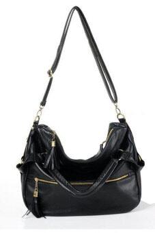 Lady Handbag Shoulder Bag Tote Purse Leather Women Messenger Black