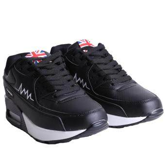LALANG Women Casual Sports Shoes Sneakers Breathable Outdoor Walking Running Shoes Black