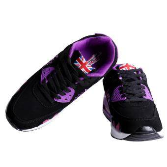 LALANG Women Casual Sports Shoes Sneakers Breathable Outdoor Walking Running Shoes Purple - 2