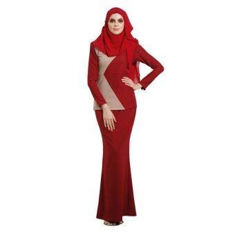 Lara Nour Baju Kurung Moden (Brown)